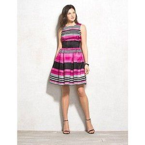 Dressbarn Striped Fit And Flare Dress 14